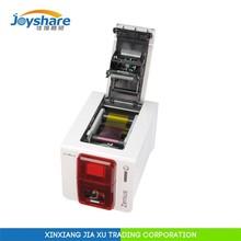 factory authorized seller evolis zenius edge-to-edge printing desktop cheap used id card printer 300dpi