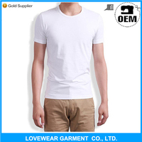 Cheap promotional 120 gsm plain white blank t shirt with below $1 price