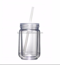 fashional mason jars with lids and straws for water