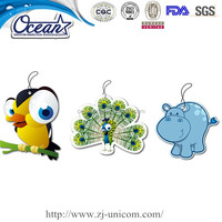 Natural Paper air freshener /Best Smelling Car Freshener/Custom Car air freshener