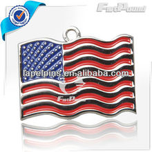 Enameling US Flag Pet ID Tag