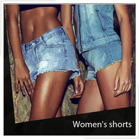 Discount Acid Washed Denim Shorts