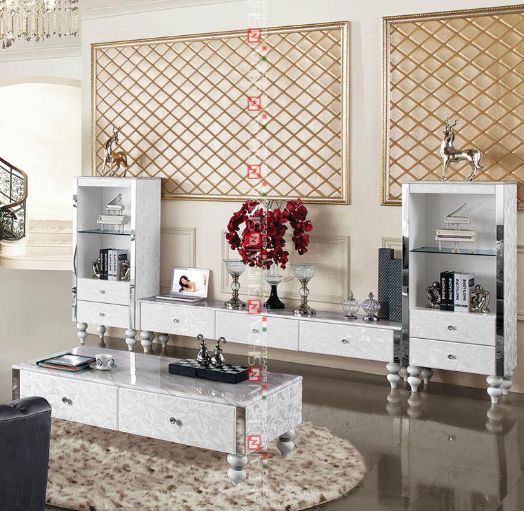 Living room furniture dubai furniture tv stand corner luxury