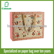 2015 high quality white card advertising paper carry bag
