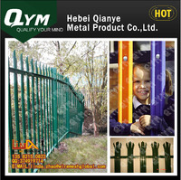 Cheap Wrought iron spear top Steel palisade Panel Security Fence (10 years experience)/Hot-dip Galvanized
