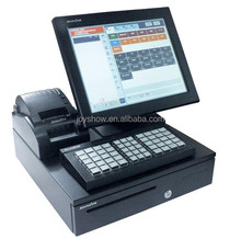 retail / restaurant touch screen pos system terminal for sale, cheap cash register machine for sale