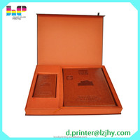 Top Quality Cheap Gold Edge Leather Book with Case Printing