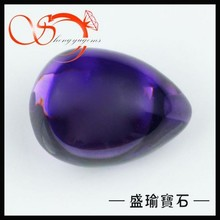 purple teardrop cabochon luster gemstone beads CZPS0040