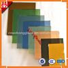3mm,4mm,5mm,6mm,8mm,12mm golden green pink blue reflective coated glass
