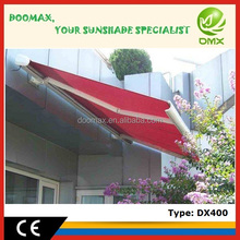#DX400 Electric Full Cassette Fixed Aluminum Porch Awnings with CE