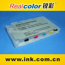 Realcolor High quality T5852/T5846 refillable cartridge for picturemate PM210/250/215/216/270 ink cartridge