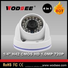 Cheapest cmos ir dome ahd 720p terminates analog cameras