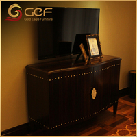 Good design solid teak wood lcd plywood tv cabinet
