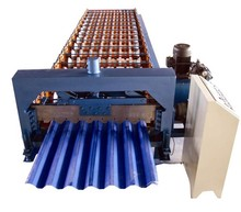 high quality color floor tiles making machine / metal roof tiles making machine china