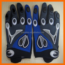 Neoprene Synthetic Leather Anti Vibration Padded Racing Glove for Safety and Sports