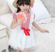 Knitted children's clothing girl dresses 2015 wholesale price my little baby turkey clothing child garment