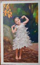 Custom Decor Portrait Painting Lovely Girl Oil Painting