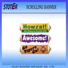 Portable scorlling hand rolling flag&fan scrolling banner