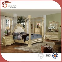 King size poster canopy bed 6 piece bedroom set WA149