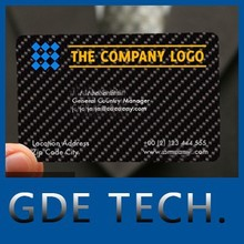 popular 100% real carbon fiber business card with CE certificate