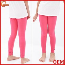 Classic solid soft strethy girls boutique clothing perfect leggings for kids