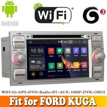 Pure android 4.4.4 system car dvd gps navigation fit for FORD KUG A 2008 - 2011 WITH CHIPSET WIFI 3G INTERNET DVR OBD2 SUPPORT
