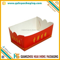 Disposable take away paper roast chicken wing box