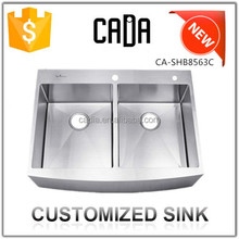 Factory Price shipping from china wholesale used kitchen above counter apron kitchen sinks