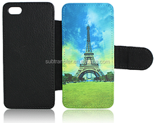 China wholesale cheap Sublimation printable flip wallet leather phone case for iphone5/5S