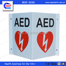 Trade Assurance WAP-health 90 degree or 3D option plastic or aluminium AED wall sign