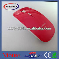 High-tech 1600 cpi flat bluetooth mouse