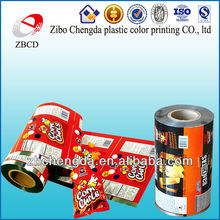 china manufacture color printing plastic packaging roll film for food
