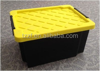 25L plastic storage crate with lid