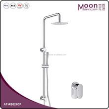 Bathroom brass chrome raining shower set
