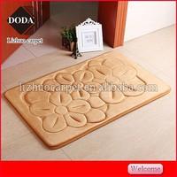 Comfortable beautiful home nwashable anti slip flannel memory foam door mats