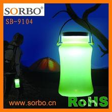 SORBO Latest Product Solar Light Bottle Silicone Water Bottle FDA Grade Water Bottle