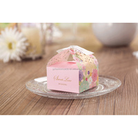 Wholesale Colorful Delicate Laser Cut Paper Candy Box for Wedding