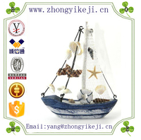 factory custom-made handmade carved fashion resin model fishing boats