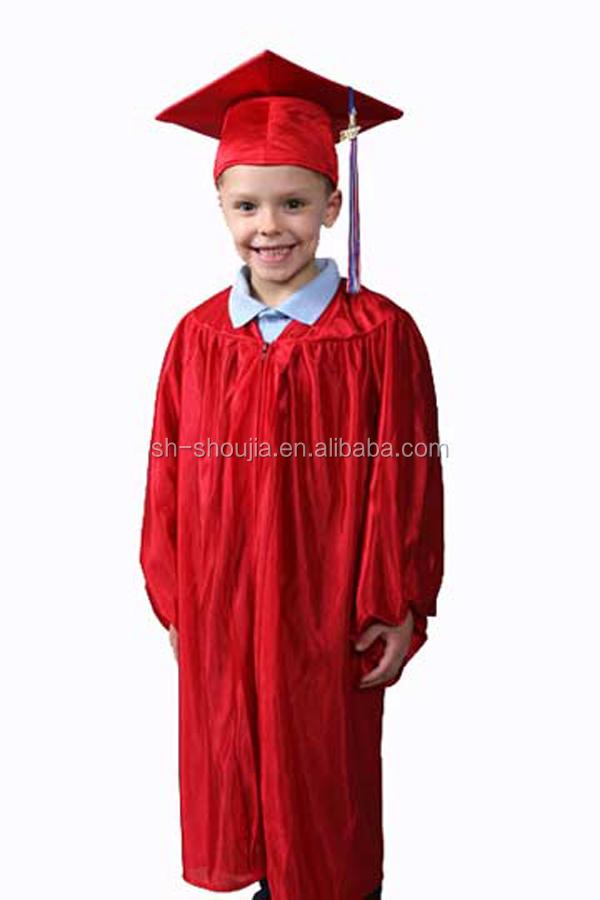 Boys Girls Kids Graduation Gown & Cap Fancy Dress Costume 3-5 & 5-7 ...