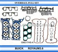 Full engine gasket set for GM BUICK Royaum3.6 gasket kit