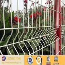 Gold supplier sale welded curvy garden fence