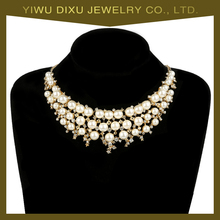 Yiwu Factory Latest Fashion Statement Jewelry Set Women Elegant Pearl Necklace