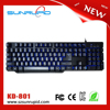 Changeable backlights LED gaming keyboard, usb computer gaming keyboard with LED light