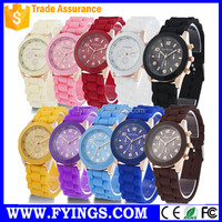 silicon wristband china silicone manufacturer wrist watch lady vogue watch promotional gift watch