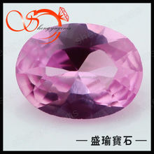 wholesale best synthetic oval shape 1.25# red corundum stone