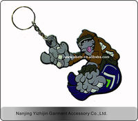 hot sale oem and odm support custom design pvc rubber promotion key chain