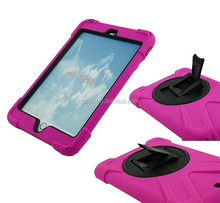 Tough waterproof tablet cover for iPad mini 2 / iPad mini 3 smart dual protector case with 360 degree rotating kickstand