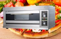 Factory sell directly 1 Deck 3 Trays Gas Pizza Oven with ceramic stone