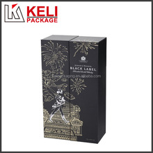 New product double open cardboard wine display box for1 bottle with two cups