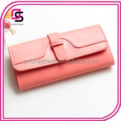 Wholesales Ladies Simple Cheap PU Leather Long Wallet Clutch Bag